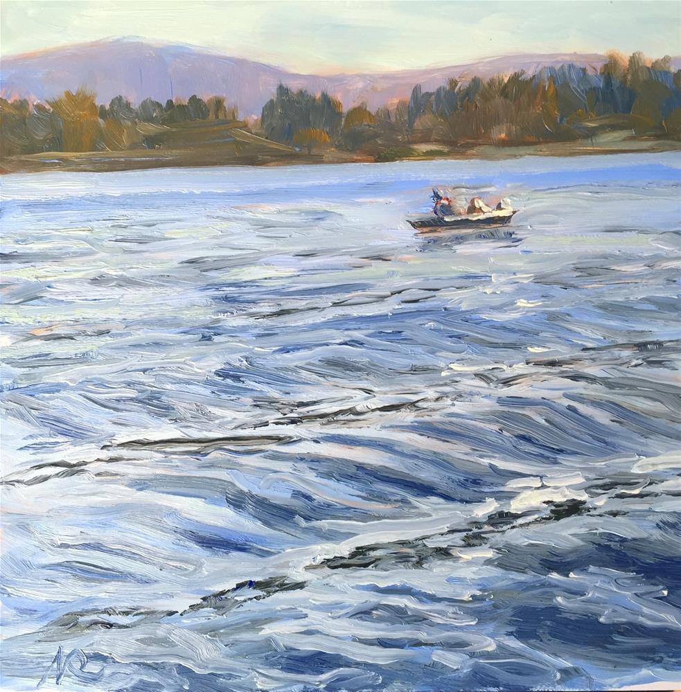 """Fishing"" original fine art by Natasha Ramras"