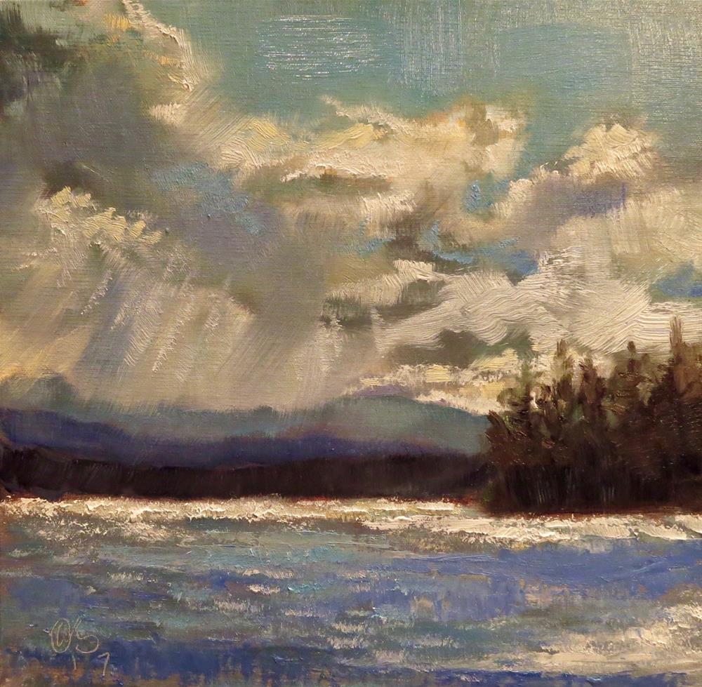 """Summer Lake"" original fine art by Aurelio Saiz"