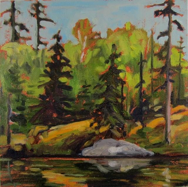 """""""Quiet Place, Sulphide Lake"""" original fine art by Nicki Ault"""