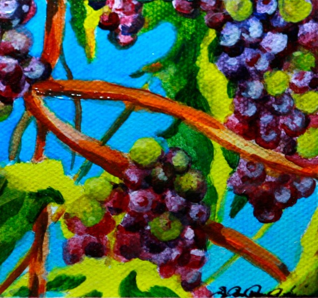"""Gilroy Grapes"" original fine art by JoAnne Perez Robinson"