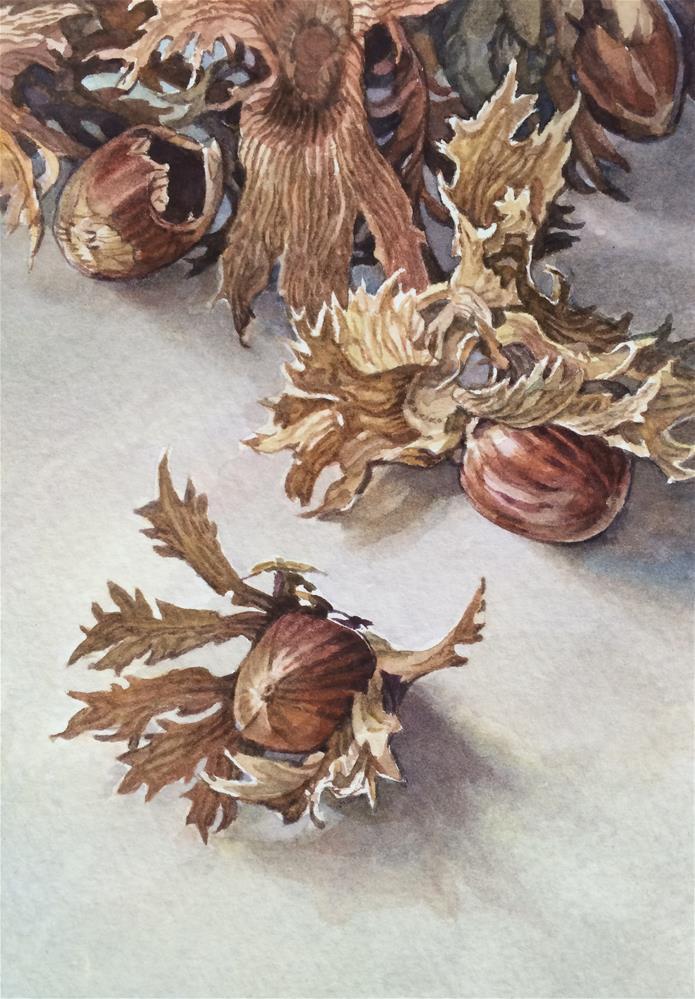 """""""2017 Hazelnut"""" original fine art by Nicoletta Baumeister"""