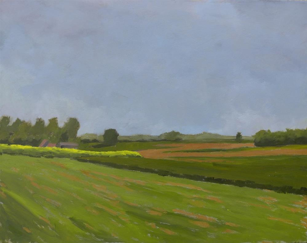 """Yellow field on a grey day"" original fine art by Graham Townsend"