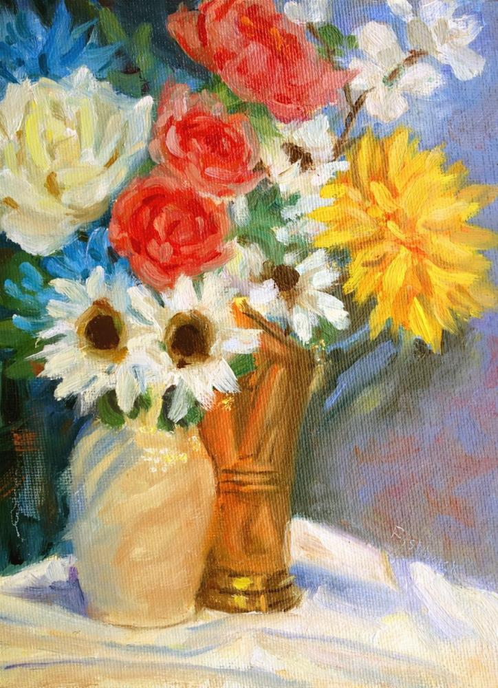 """Red White Blue and Yellow"" original fine art by Daniel Fishback"