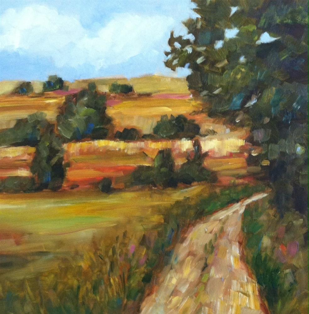 """Walk in the Country"" original fine art by Libby Anderson"