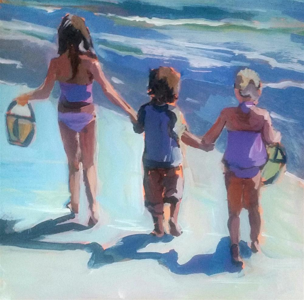 """Off to the Sea!"" original fine art by Liz Maynes"