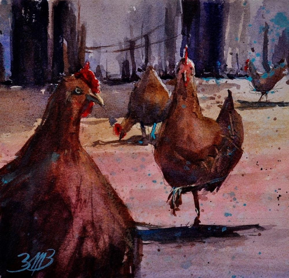 """My Girls"" original fine art by Brienne M Brown"
