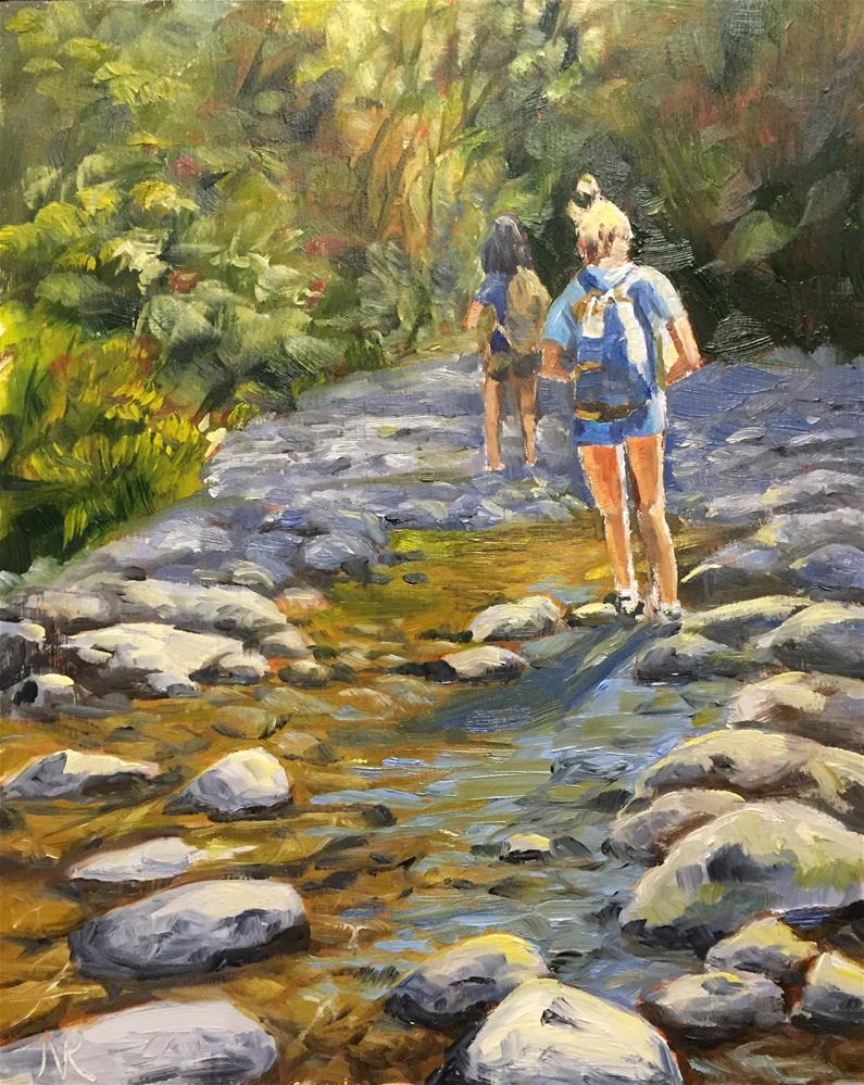 """Up a creek"" original fine art by Natasha Ramras"