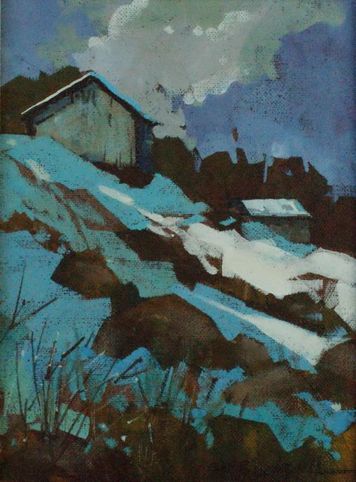 """Last Snowfall"" original fine art by Brian Buckrell"