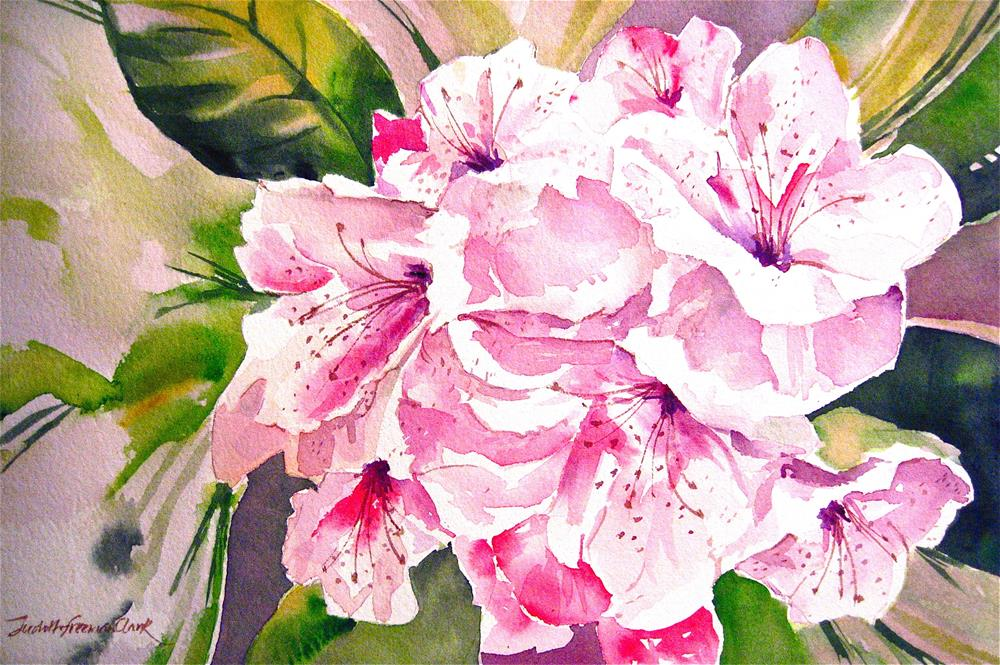"""Alstroemeria, study"" original fine art by Judith Freeman Clark"