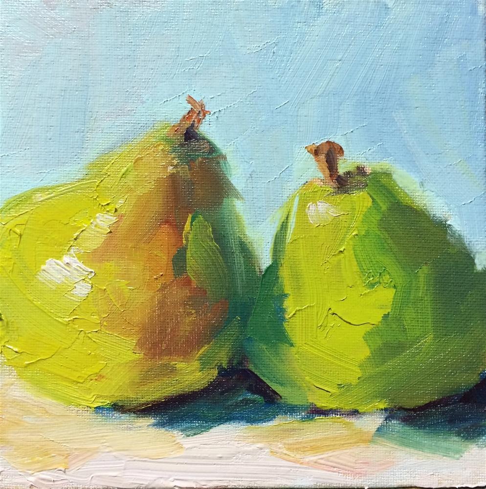 """Green Pears"" original fine art by Naomi Bautista"