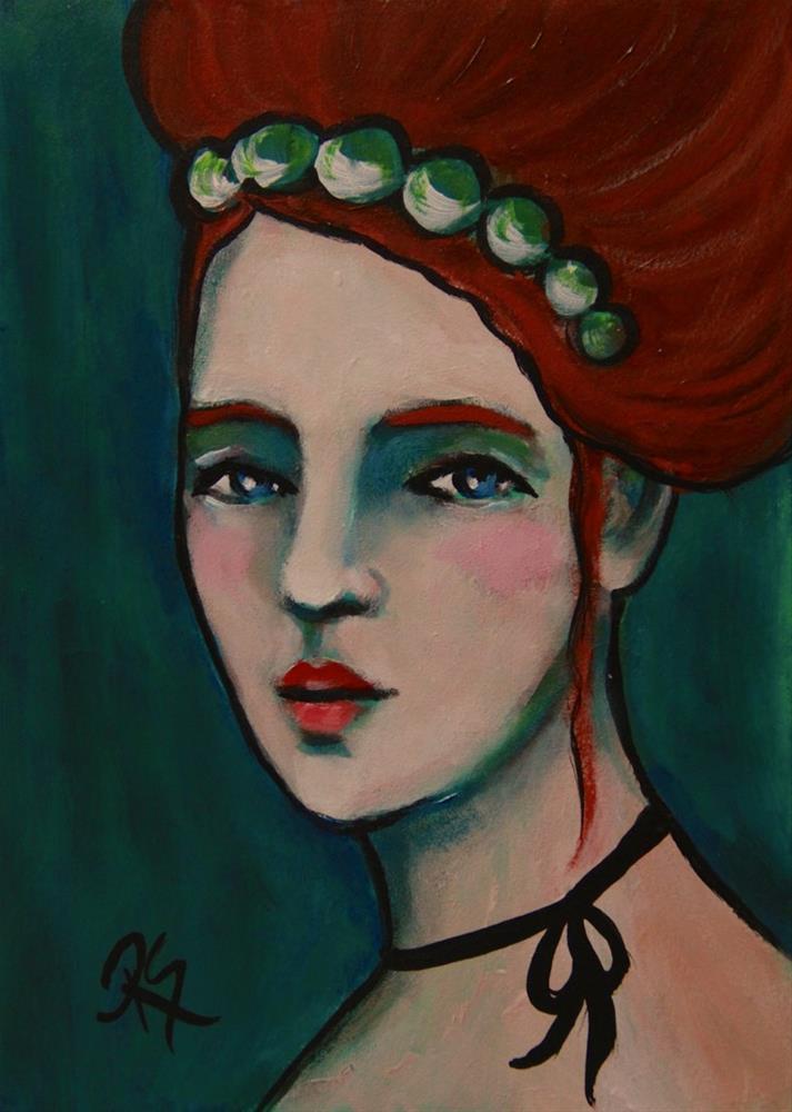 """""""Jade"""" original fine art by Roberta Schmidt"""