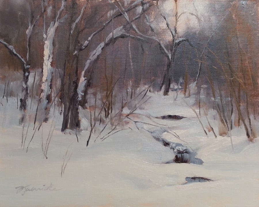 """Hidden Creek"" original fine art by Barbara Jaenicke"