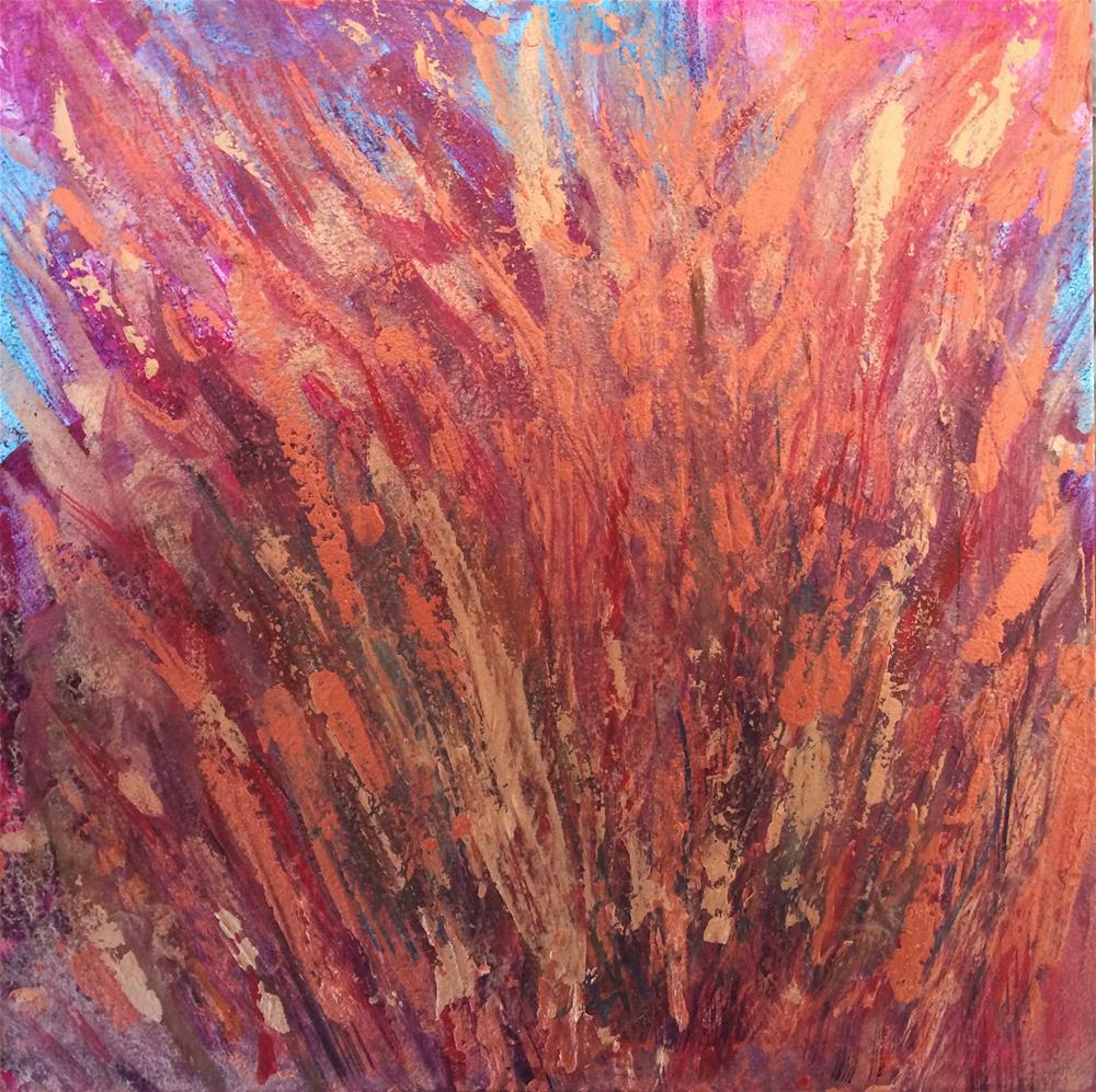"""Fire"" original fine art by Susan Medyn"