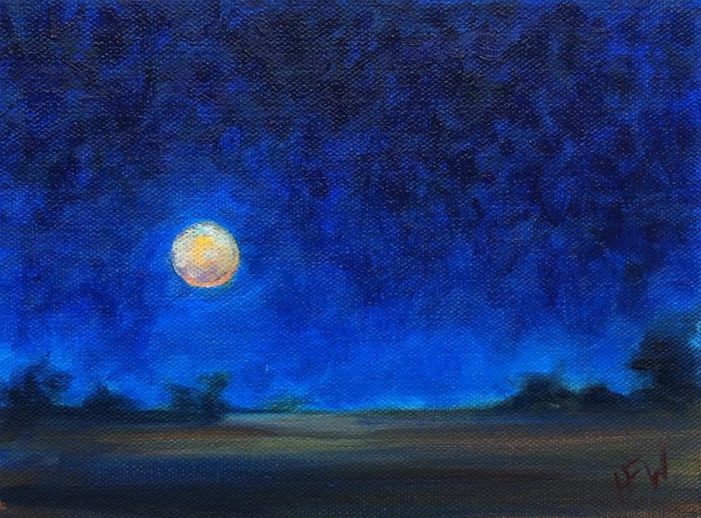 """February Full Moon"" original fine art by H.F. Wallen"