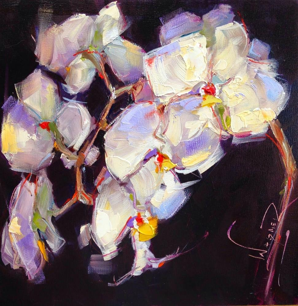 """ORCHID 8x8"" original fine art by Olga Wagner"