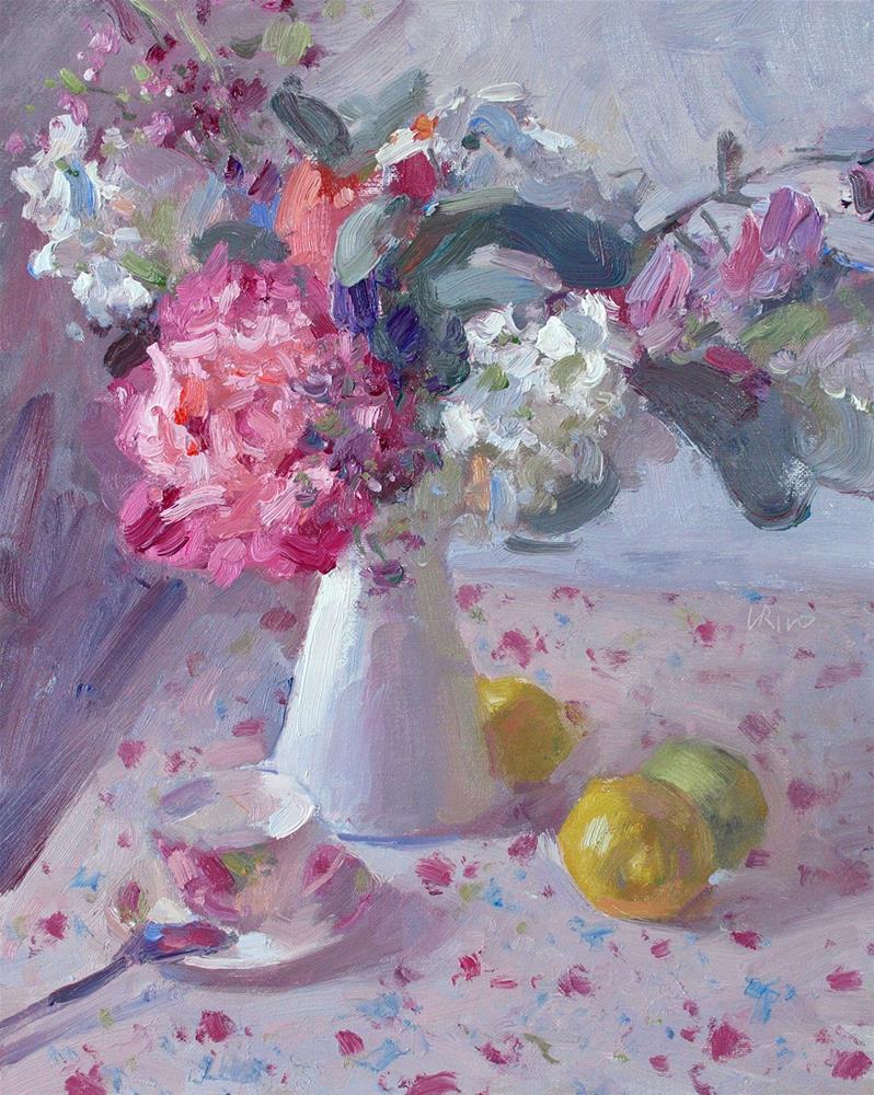 """""""Morning Still Life"""" original fine art by Lena  Rivo"""