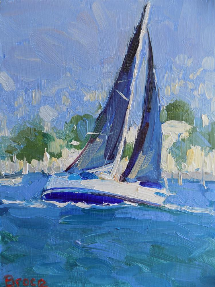 """Black Sail San Francisco"" original fine art by Rita Brace"