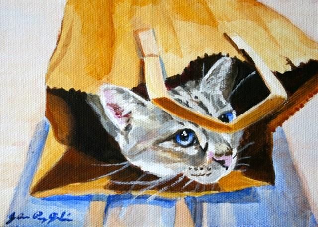 """I Got It In The Bag"" original fine art by JoAnne Perez Robinson"
