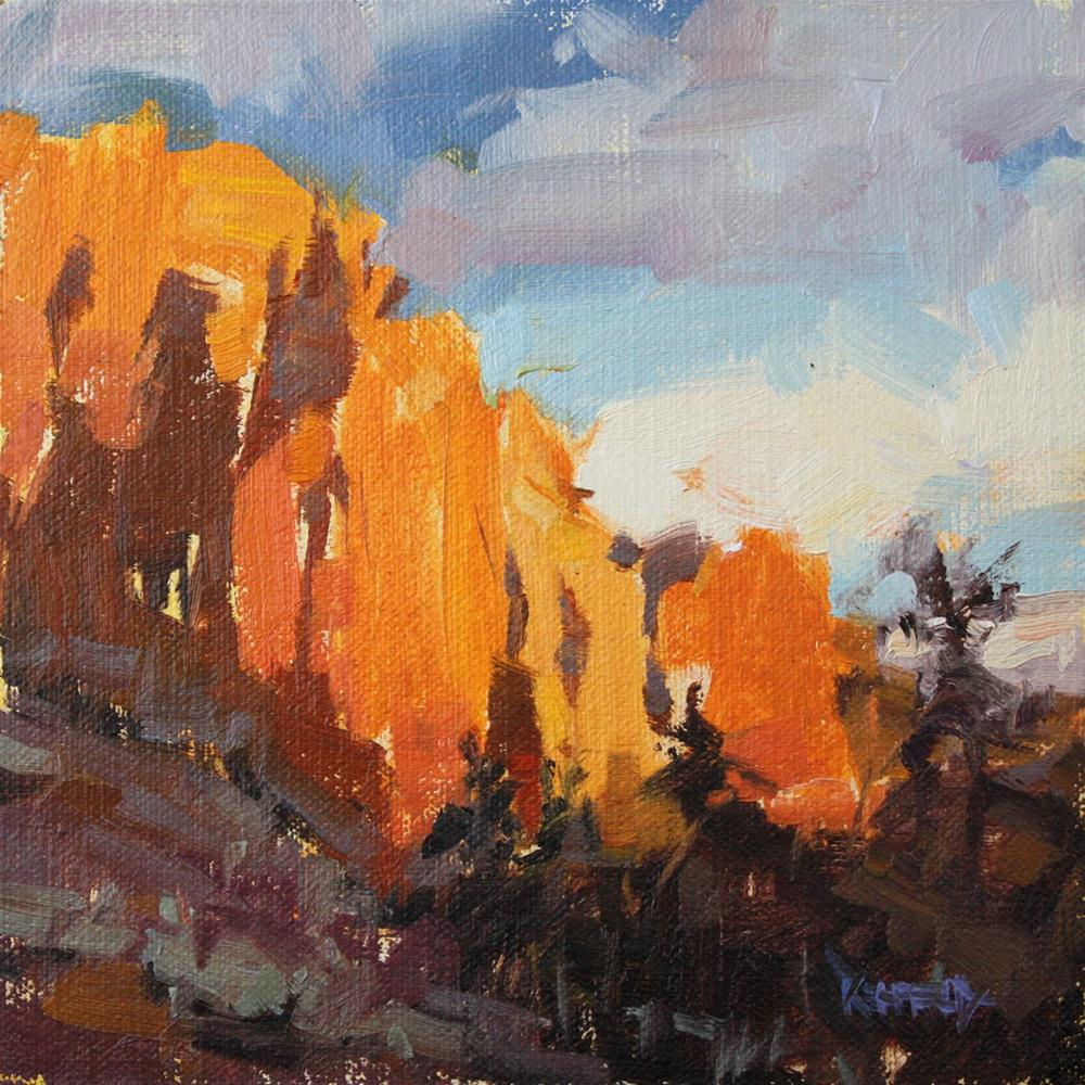 """Smith Rock Evening Light, Terrebonne, Oregon"" original fine art by Cathleen Rehfeld"