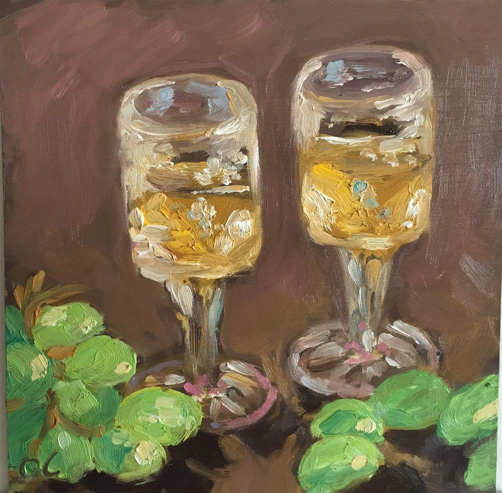"""Nightcap for two"" original fine art by Cheree Apalona Lueck"
