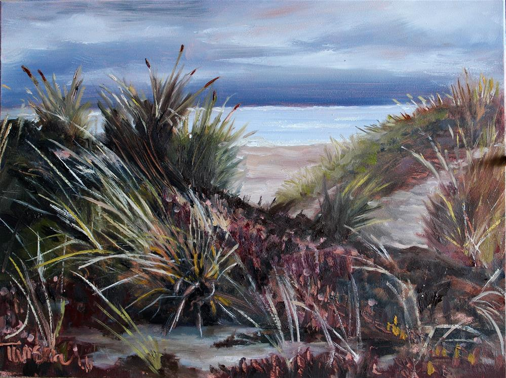 """Gloomy Dunes"" original fine art by Tamsen Armstrong"