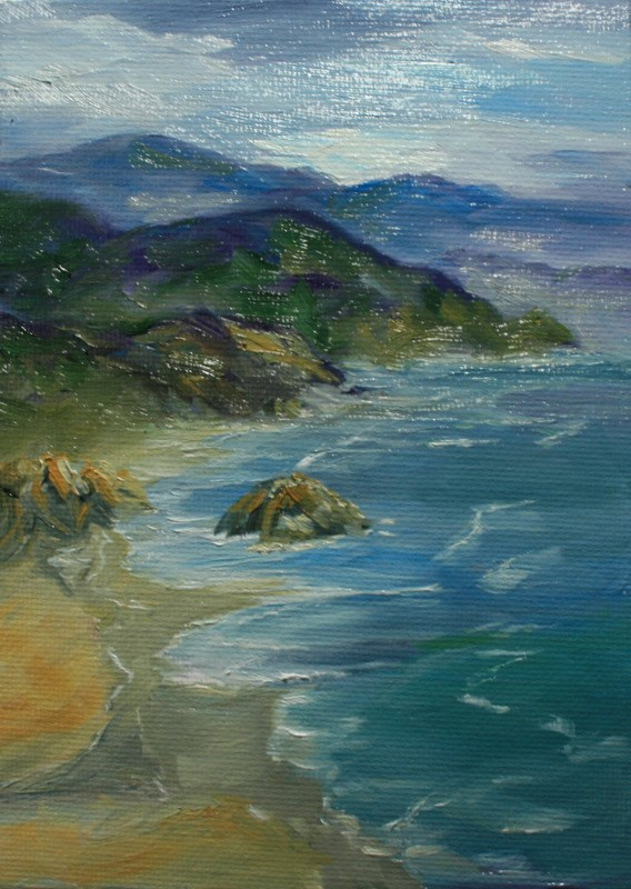 """Wild and Rocky"" original fine art by Jean Nelson"