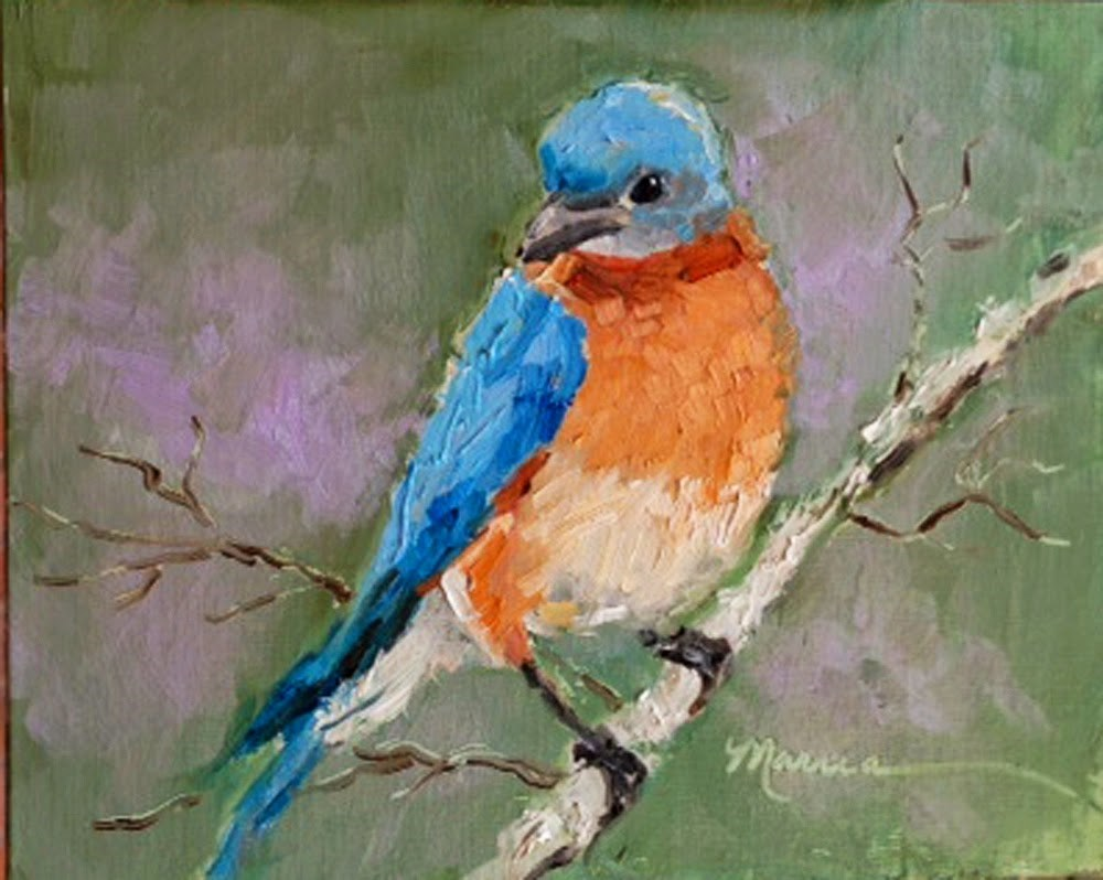 """I'm Back"" original fine art by Marcia Hodges"