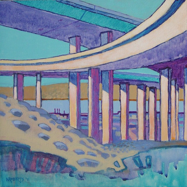 """Ramp Henge"" original fine art by Nancy Roberts"