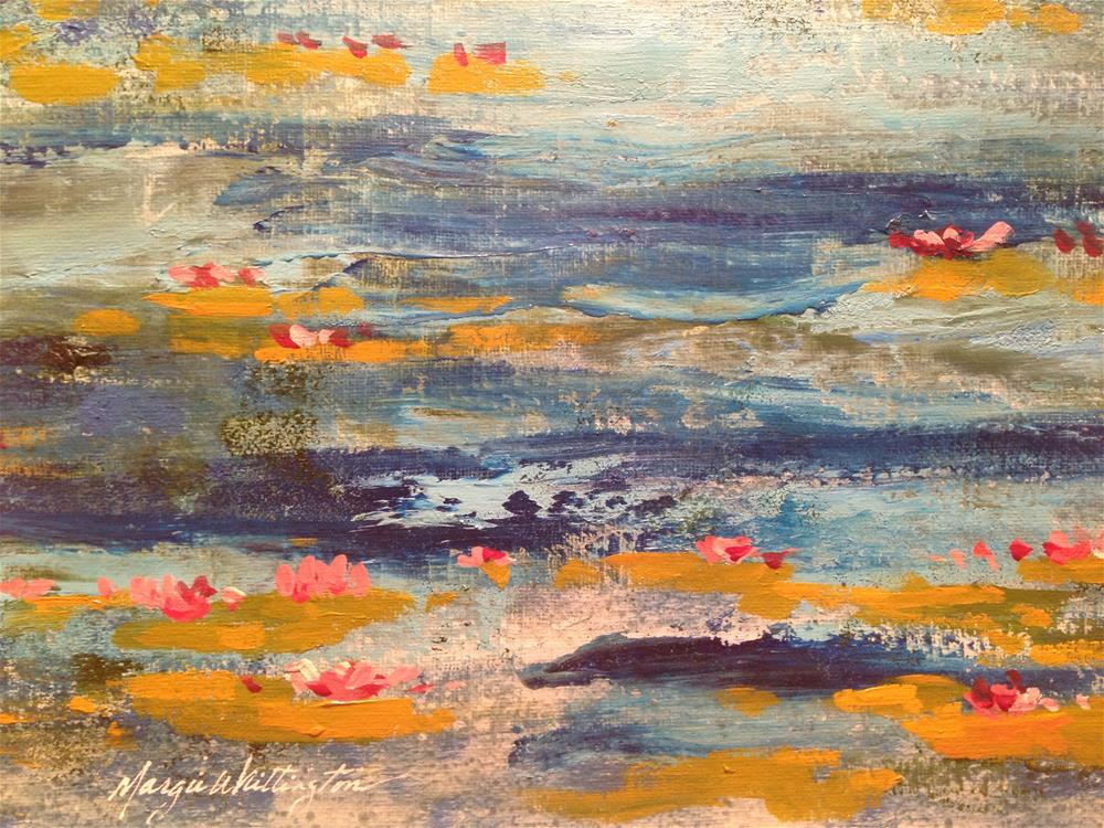 """Lily Pads 1"" original fine art by Margie Whittington"