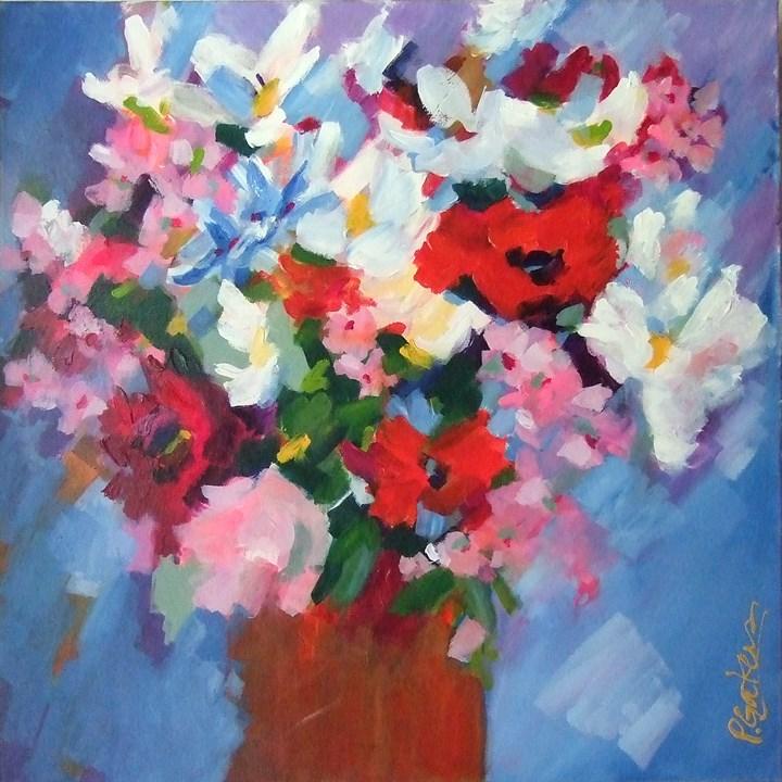 """""""Bodacious Bouquet"""" original fine art by Pamela Gatens"""