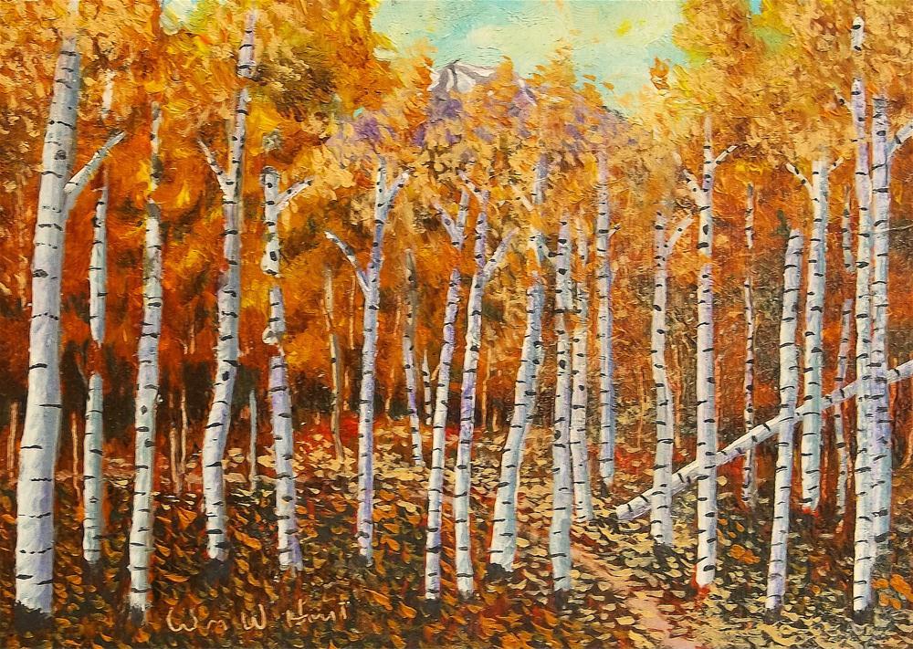 """Aspen Trail"" original fine art by William W. Hoyt"