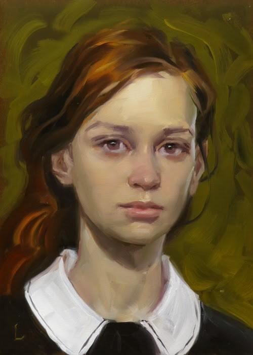 """""""White Collar"""" original fine art by John Larriva"""