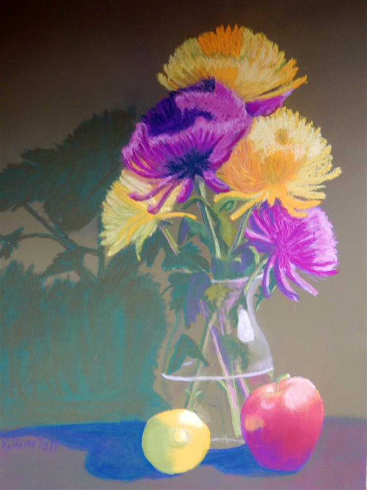 """Fruit n' Flowers"" original fine art by Elaine Shortall"