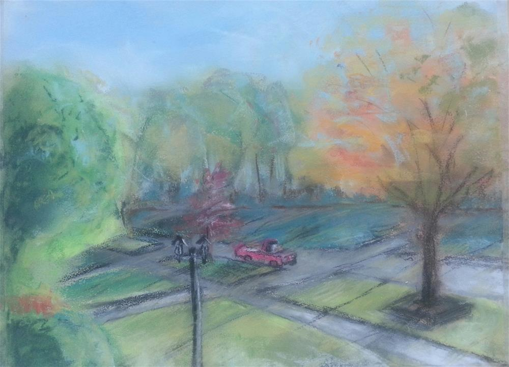 """The Burbs"" original fine art by Phyllisha Hamrick"