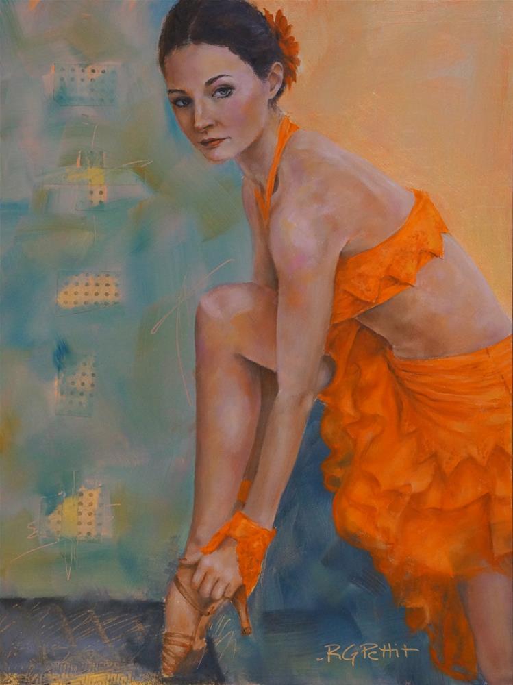 """Before the Show"" original fine art by Rhea  Groepper Pettit"
