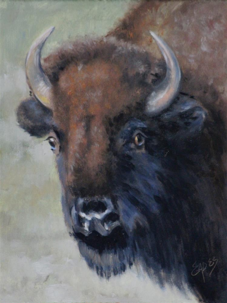 """Buffalo Girl"" original fine art by Linda Eades Blackburn"