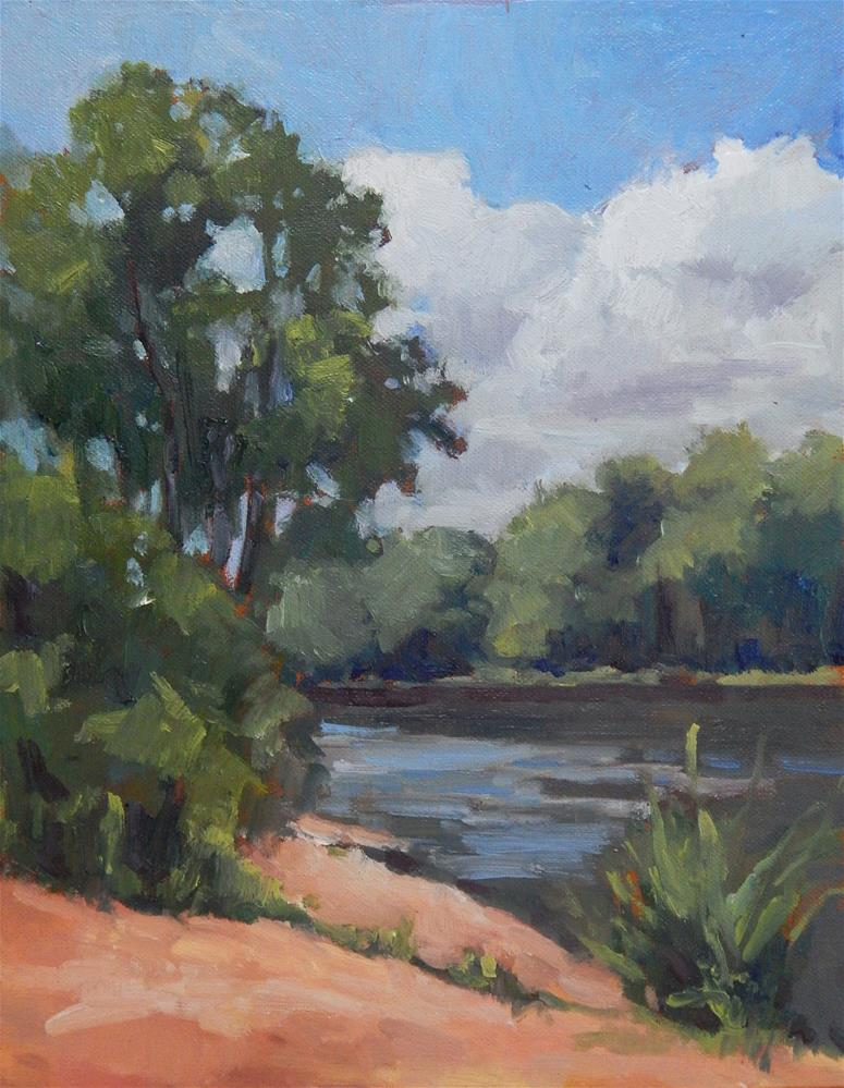 """Afternoon at the River"" original fine art by Lisa Kyle"