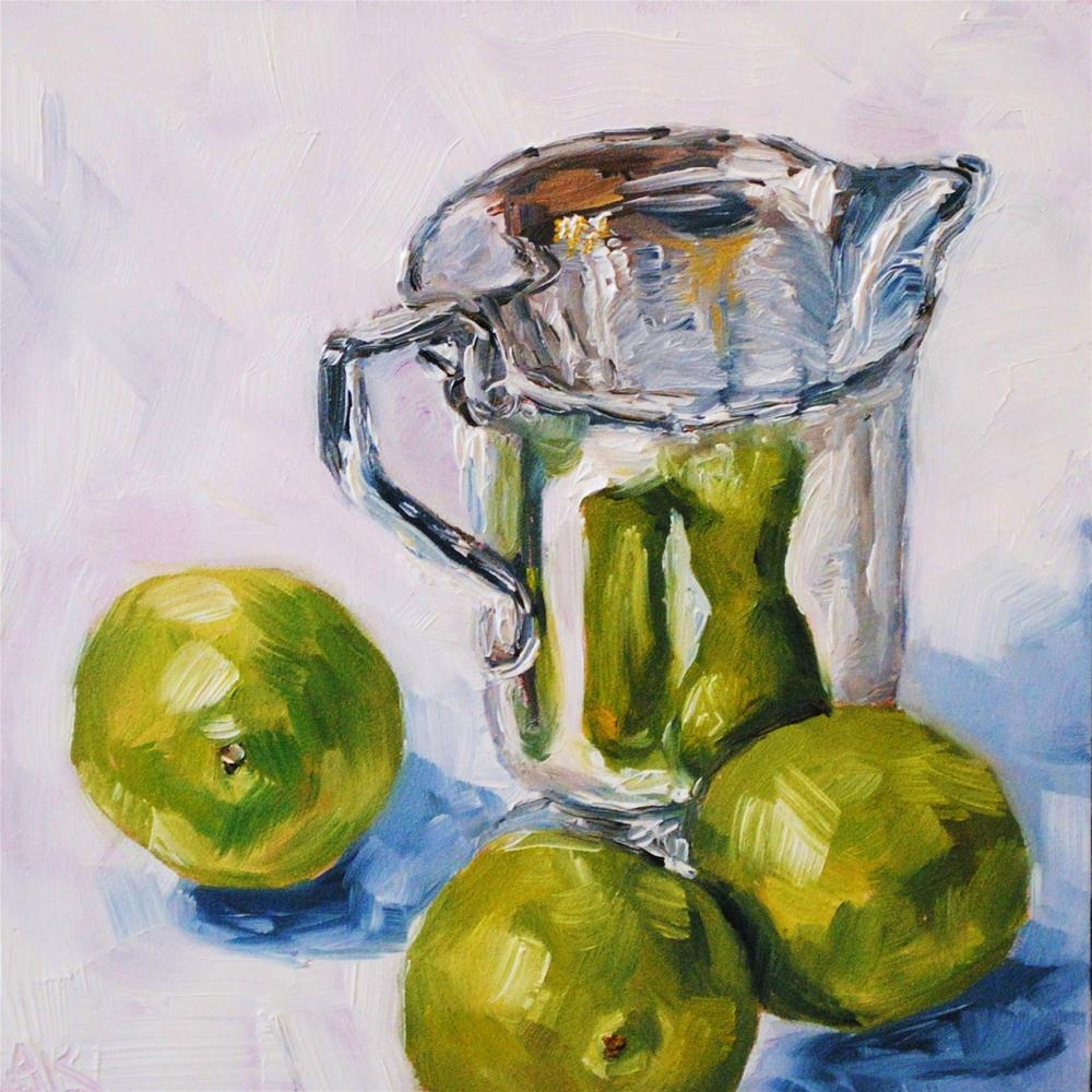"""Limes with Creamer"" original fine art by Alison Kolkebeck"