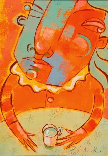 """Tea And Sympathy"" original fine art by Brenda York"