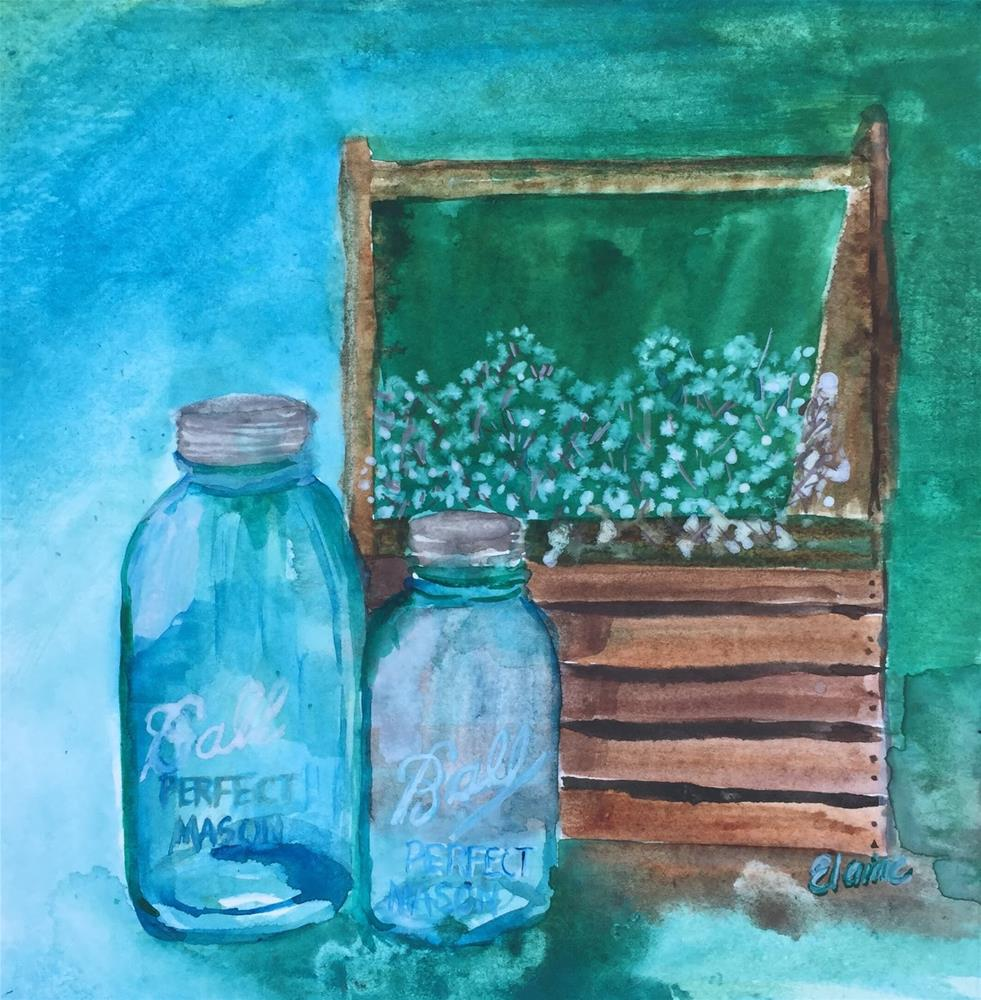 """Ball Jars"" original fine art by Elaine Ford"