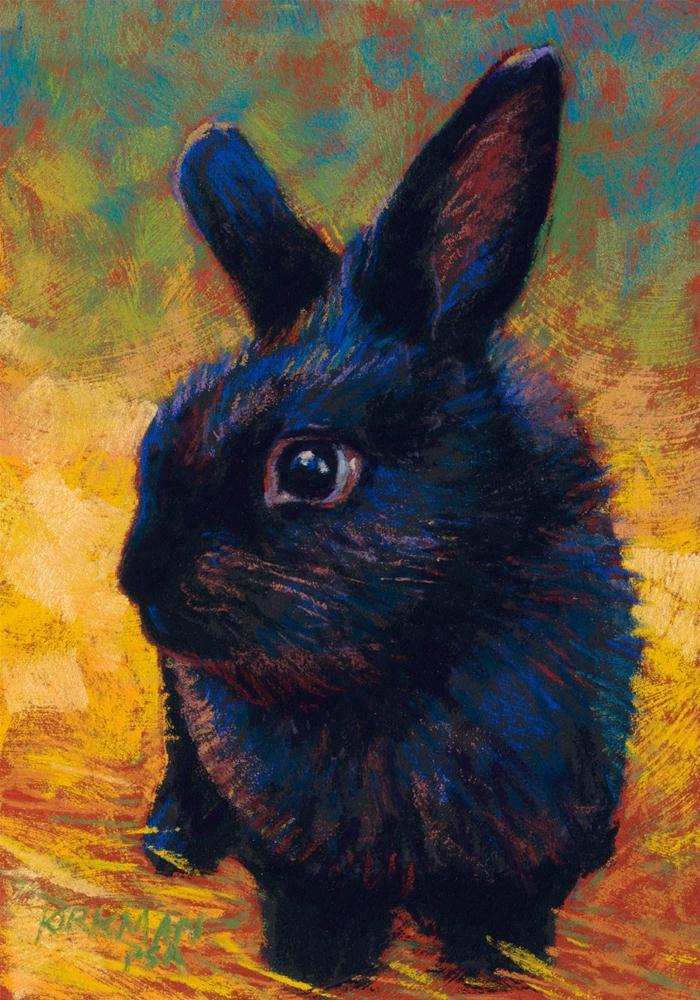 """Charcoal Puff"" original fine art by Rita Kirkman"