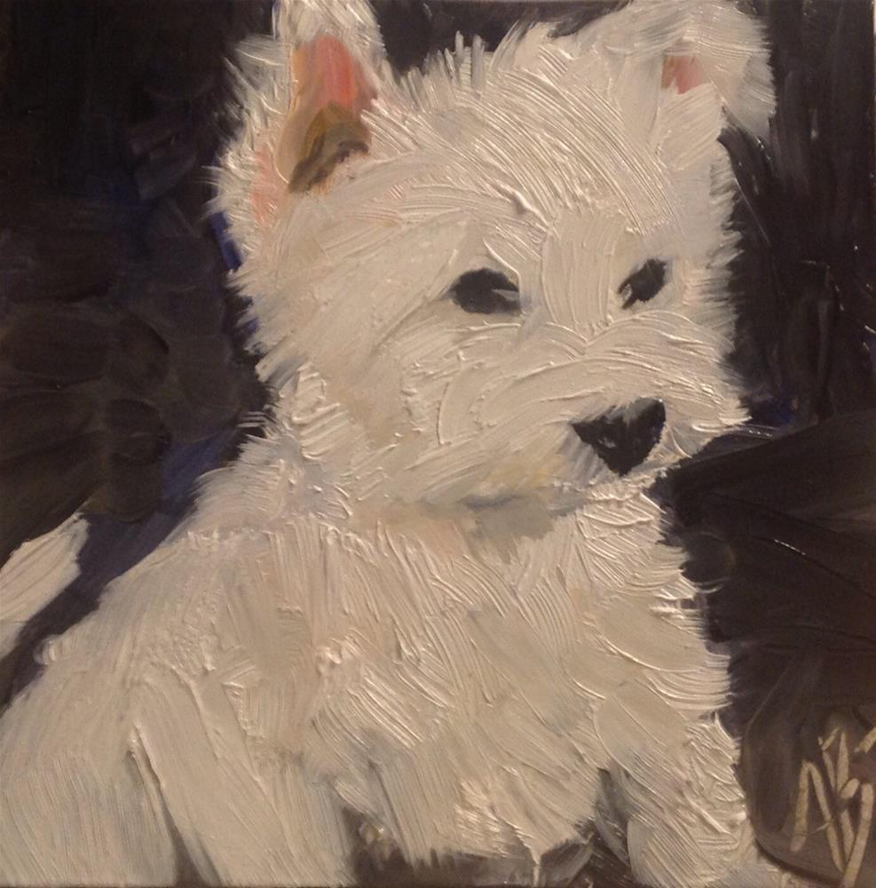 """Little Westie"" original fine art by Annette Balesteri"
