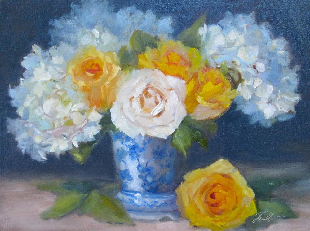 """Painting Flowers Alla Prima Workshop"" original fine art by Pat Fiorello"