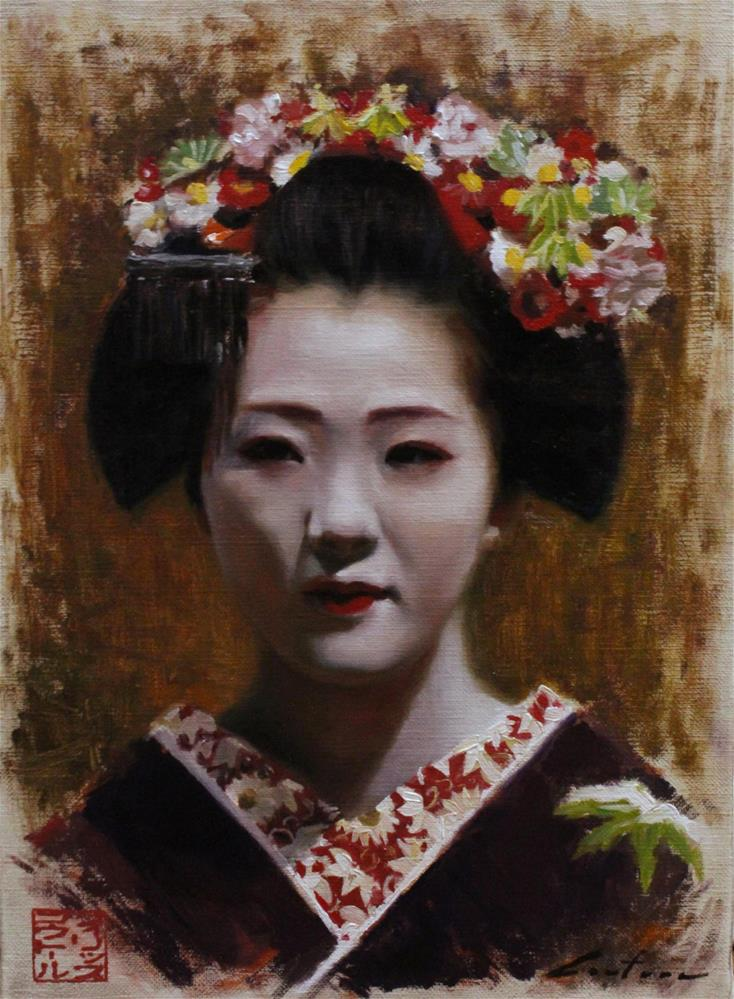 """East Gion"" original fine art by Phil Couture"
