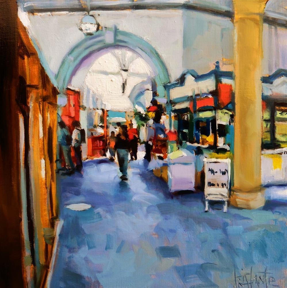 """Market"" original fine art by Víctor Tristante"