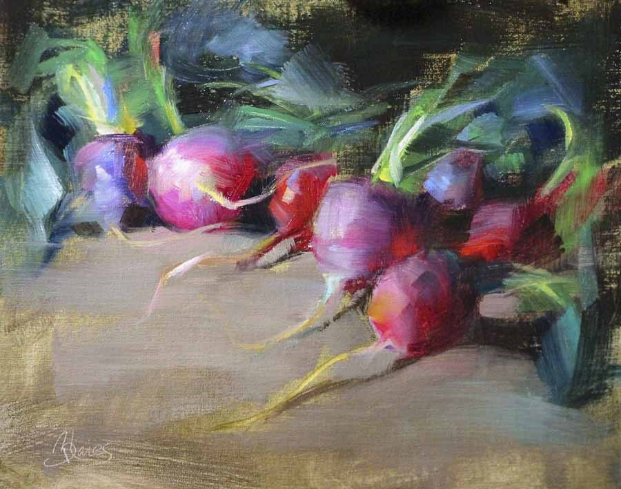 """Easter Egg Radishes"" original fine art by Pamela Blaies"