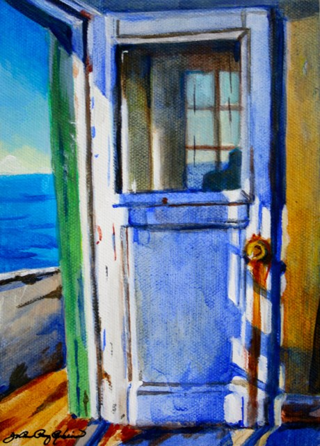 """Door is Open"" original fine art by JoAnne Perez Robinson"
