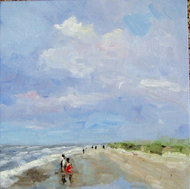 """Sunny day at the beach"" original fine art by Astrid Buchhammer"