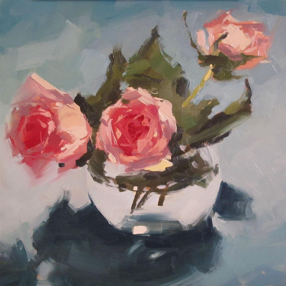 """STRIKE A ROSE"" original fine art by Helen Cooper"