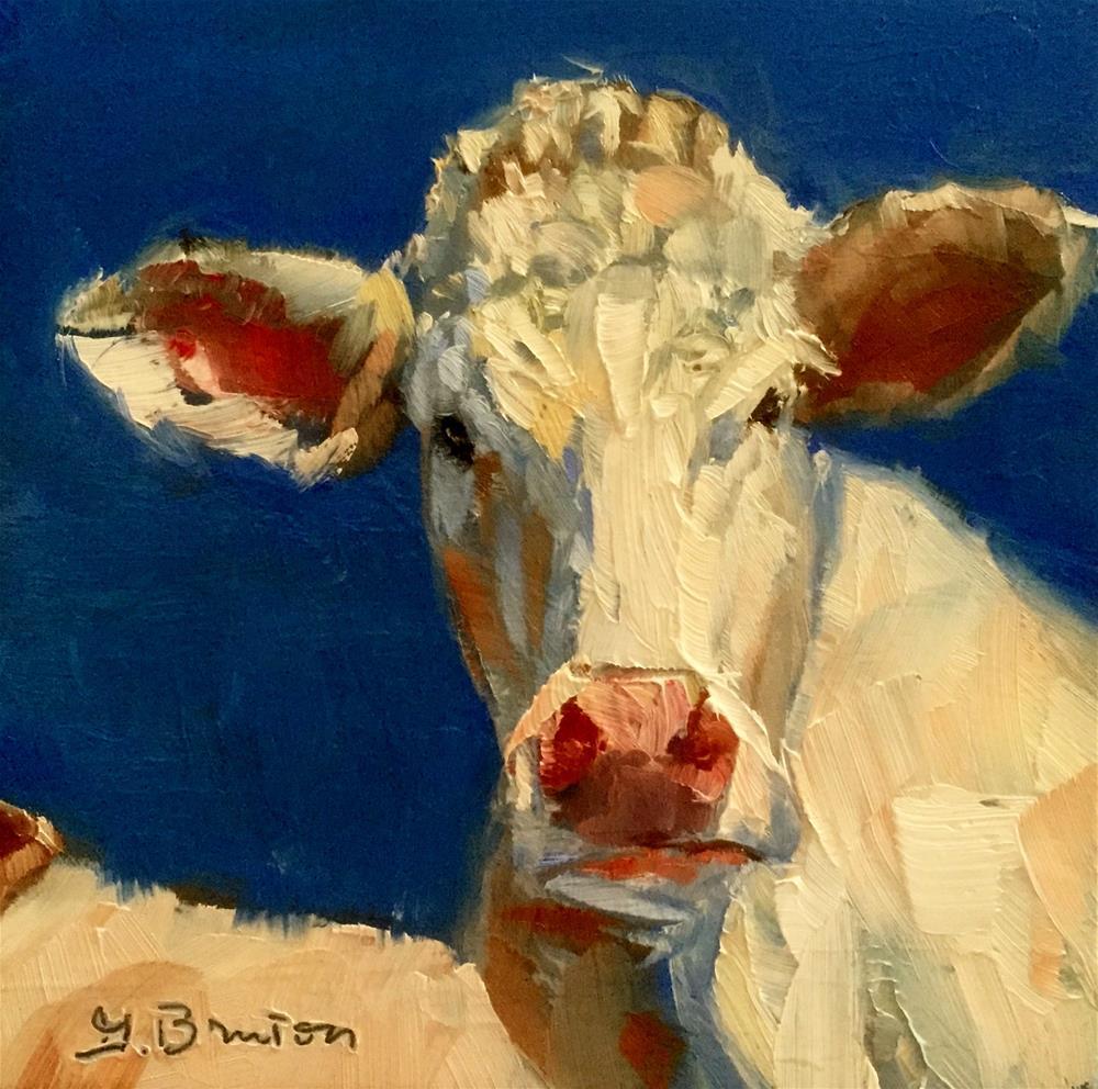 """Cow, Blue Skies"" original fine art by Gary Bruton"
